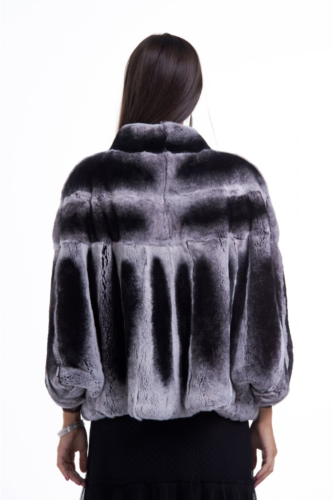 Haina de blana naturala de Chinchilla Rex , FLUTURES , Natural , Carolina Design